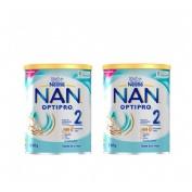 Nan optipro 2 leche de continuacion (2 envases 800 g)