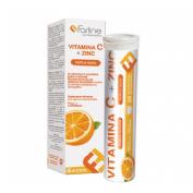 Farline complementos vitamina c y zinc (20 comprimidos efervescentes)
